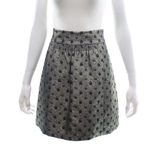 TIBI METALLIC POLKA DOT MINI SKIRT SIZE 4 NWT